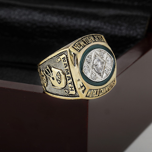 Solid 1968 New York Jets Super Bowl Football Championship Ring Size 10-13 With High Quality Wooden Box Best Fans Gift