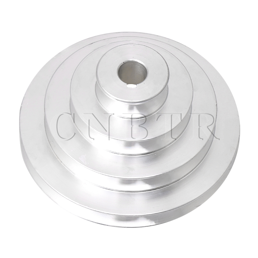 CNBTR 41mm To 130mm Outer Dia 16mm Bore Aluminum 4 Step Pagoda Pulley Belt For A Type V-Belt Timing Belt