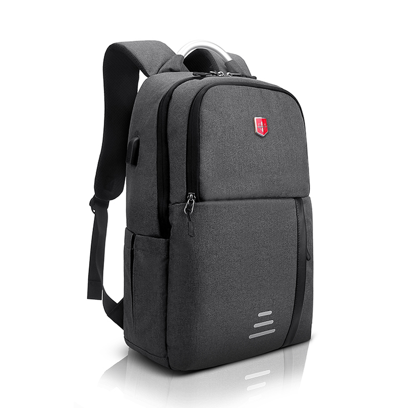 Brand Swiss USB charging Laptop Backpack Men 15inch Schoolbags for Teenager Fashion Male Mochila Leisure Travel