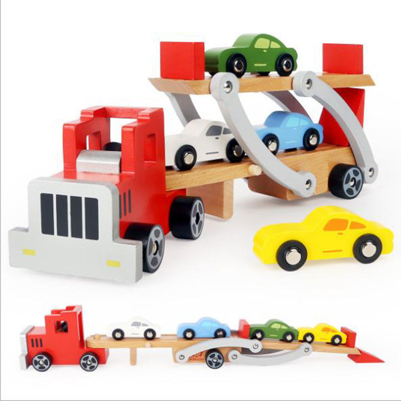 Wood Car Water : Car carrier toy storage bing images