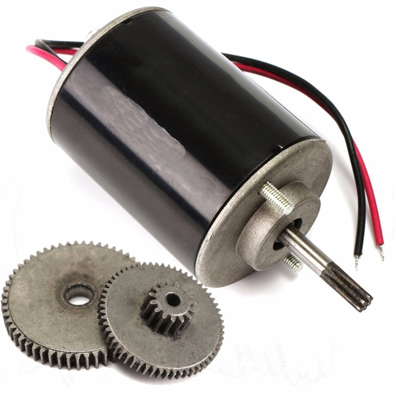 36W DC 12V-24V Small Wind For Turbine Generators Permanent Magnet Motor With Gear 108mm/4.3 inch Hot sale with gear 40w 50w hand cranked generator dc small generator 12v 24v permanent magnet dc motor dual use
