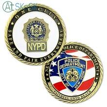1 PZ Moneta Commemorativa Fedeli Unto Death New York City Police Department  Sfida Coin NYPD Monete 76248ece7a94