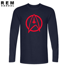 New Arrival High Quality Star Trek Funny Tshirts Vulcan Longevity And Prosperity Men T Shirts Fashion Long sleeve T-shirts
