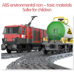 Image 4 - 854PCS รถไฟสินค้ารถไฟ Intercity Passenge Building Blocks City รถไฟตัวเลขตำรวจอิฐของเล่นสำหรับของขวัญเด็ก