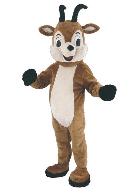 Haute qualité vente de costumes de mascotte de mouton noël Halloween drôle animal mascotte de chèvre Costume taille adulte