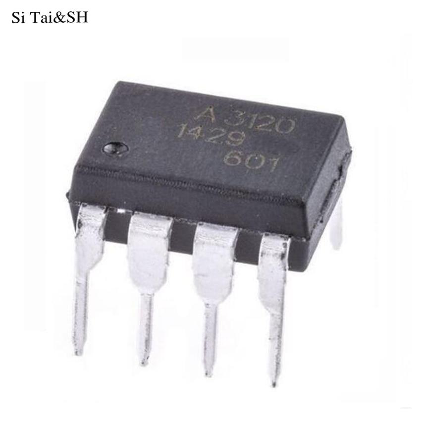 10PCS A3120 HCPL-3120 SOP8 SMD-8 2.0 Amp IGBT Gate Drive Optocoupler