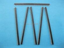 6 pcs Banhado A Ouro L7.43mm 2.54mm Pin Header 1x40 40pin Homem Solteiro Row Faixa