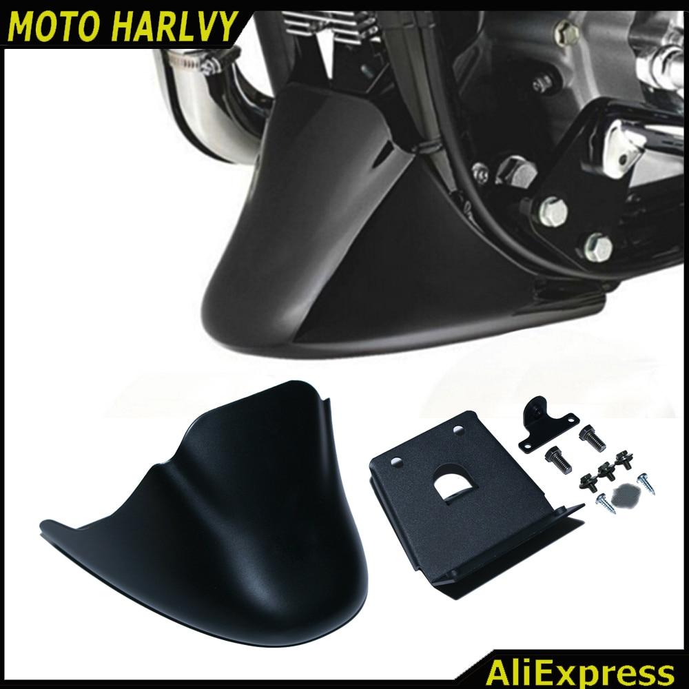Matte Black Lower Front Spoiler Chin Fairing for Harley Davidson Sportster 2004-2014 With Logo XL883 XL1200 Motorcycle Fairing Harley-Davidson Sportster