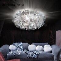 Nordic Minimalist Creative LED Chandelier Living Room Bedroom Art Personalized Acrylic Warm Flowers Hanging Dual Purpose