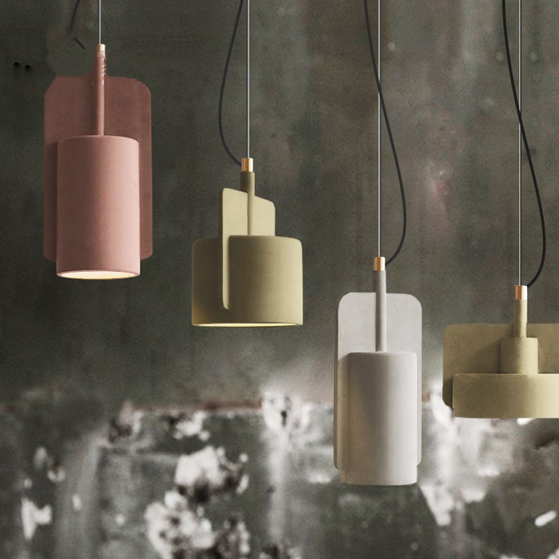 The Nordic Industrial Style restaurant pendant lights retro creative personality Cafe Bar Dining room Macaron CementThe Nordic Industrial Style restaurant pendant lights retro creative personality Cafe Bar Dining room Macaron Cement