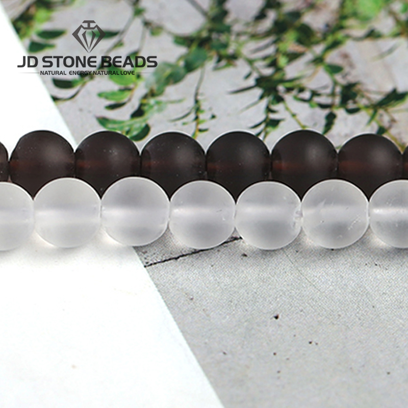 2019 Neuer Stil Natürliche Frost Weiß Quarz Perlen Matte Rock Rauchquarz Perle Natürliche Material Farbe Gefärbt Braeclets Zubehör Für Schmuck Machen Zahlreich In Vielfalt