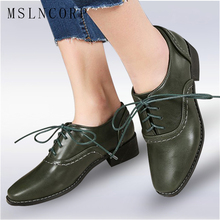 купить size 34-43 Spring Autumn Soft Leather Oxford Shoes Women Flats New Fashion Lace Up Casual Moccasins Loafers Ladies zapatos mujer онлайн