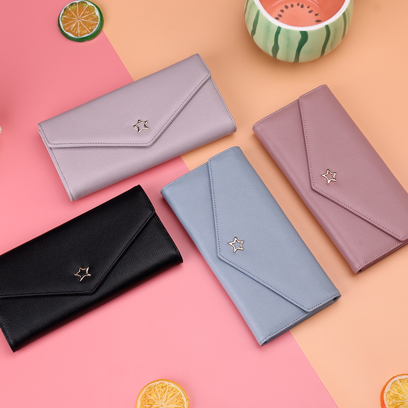 Fashion Women Genuine Leather Wallet Bag Ladies Clutch Wallet Luxury Brand Girl Wallet Female Long Coin Purse Carteira Feminina 2017 unique design women fashion leather wallet leisure clutch bag long purse girl female portefeuille mme a8