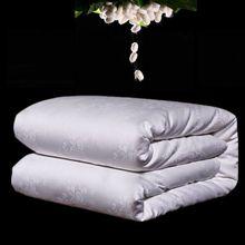 Exquisite Handmade Silk Comforter Natural 100%Silk Filler Quilt Winter Blankets Satin Jacquard Cotton Cover Accept Custom