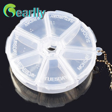 Transparent small plastic fishing tackle box fishing hook box fishing lure box easy taken