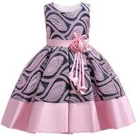 С цветочным рисунком для маленьких девочек платье в полоску для девочек Единорог нарядные платья для свадьбы детское платье принцессы рожд...