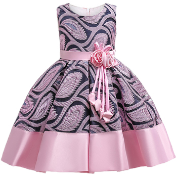72b80ee2d Bebé niñas flores rayas vestido para niñas