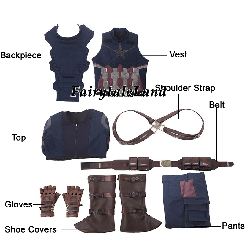 Image 5 - Avengers Infinity War Captain America Cosplay Costume Carnival Halloween costumes Superhero Steve Rogers Captain America Suit-in Movie & TV costumes from Novelty & Special Use