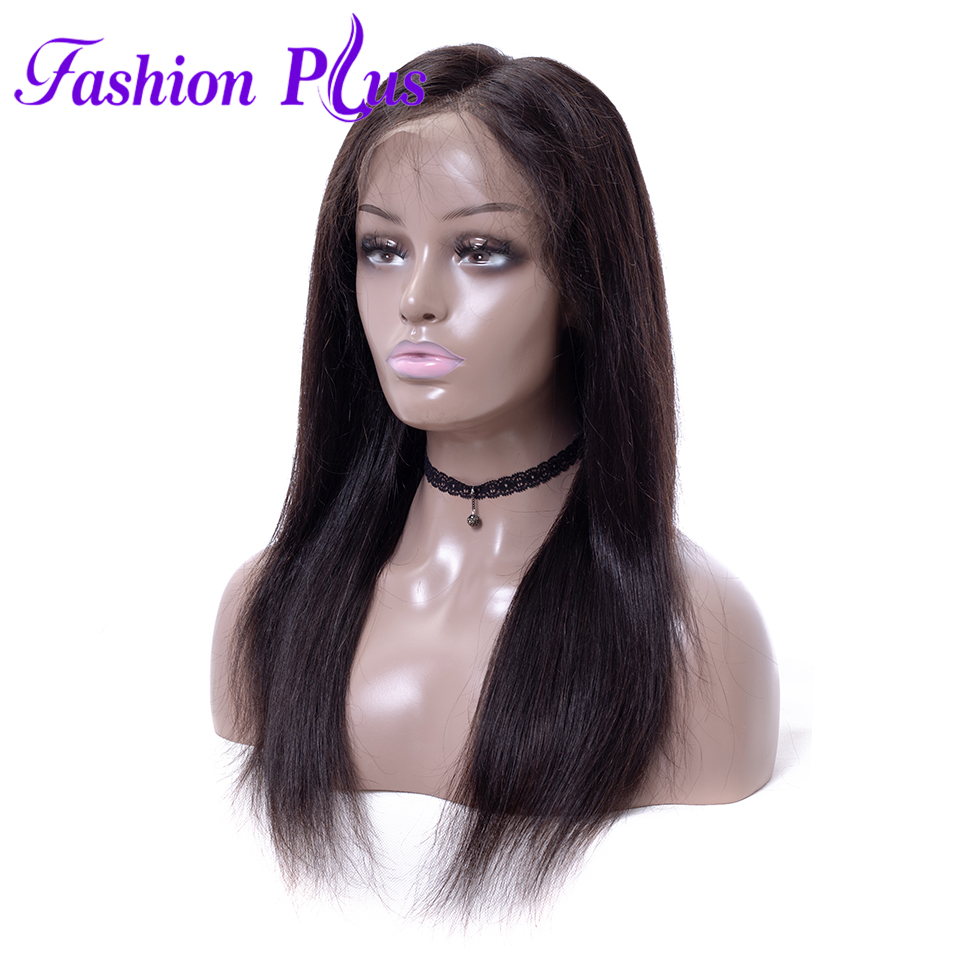 Full Lace Human Hair Wigs For Black Women Straight Brazilian Wigs Remy Hair Bleached Knots 180% Density Full Lace Wigs For Women