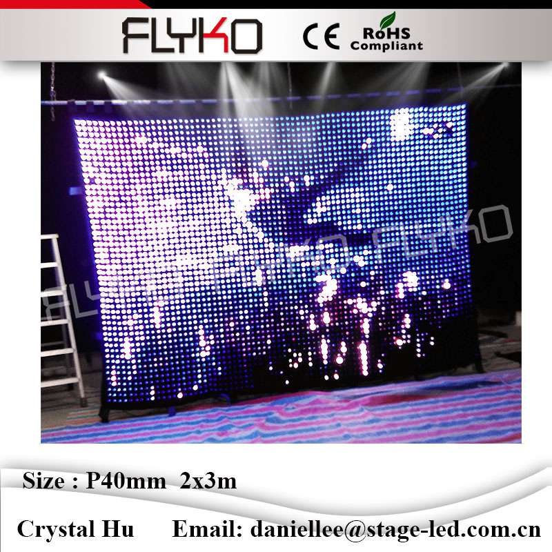 Full Color Xxx Video  Image  Graphic Ceiling Led Curtain P4 Led Video Curtain Play -7937