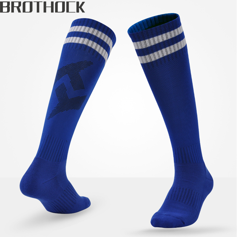 Brothock Football Socks Long Thicker Pure Adult And Children Soccer Socks Training Summer Towel Sports Socks Football Stockings