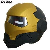 Matte Black Gold Masei 610 ABS Unisex IRONMAN Iron Man Helmet Motorcycle Helmet Half Helmet Open