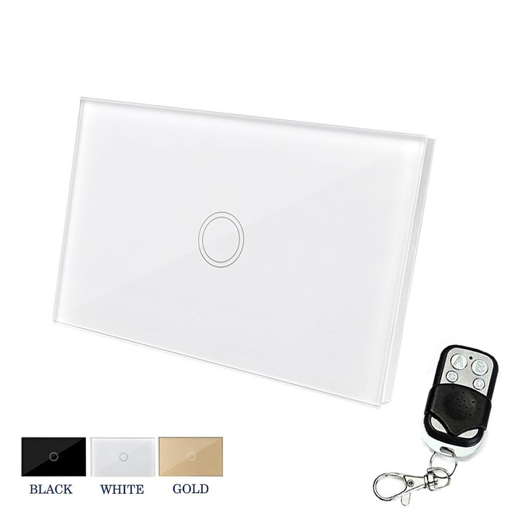 Wireless Wall Touch Switch Control Light Panel US Sensor WiFi On/Off 1 Gang RF433 Controller Smart Touch Switch wireless wall touch switch control light panel eu sensor wifi on off 3 gang rf433 240v smart controller