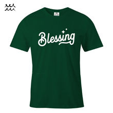 BLESSING CHRISTIAN PRINT T SHIRT JESUS CHRIST GRAPHIC SHIRTS GOD DESIGN TEE GIFT  Free shipping