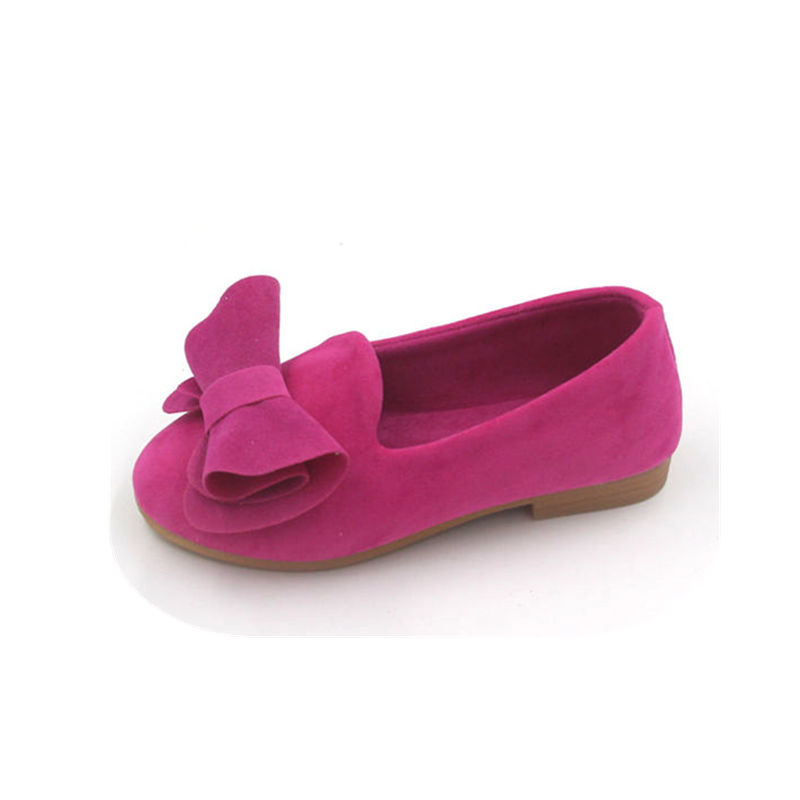 Fashion Flat Shoes For Kids and Girls Children Breathable Bowknot Casual Big Bow Velvet Loafers