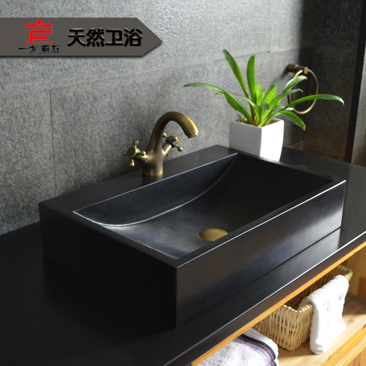 One home art stone basin sanitary ware wash basin hand wash basin counter  basin square pots. basin mixer Picture   More Detailed Picture about One home art