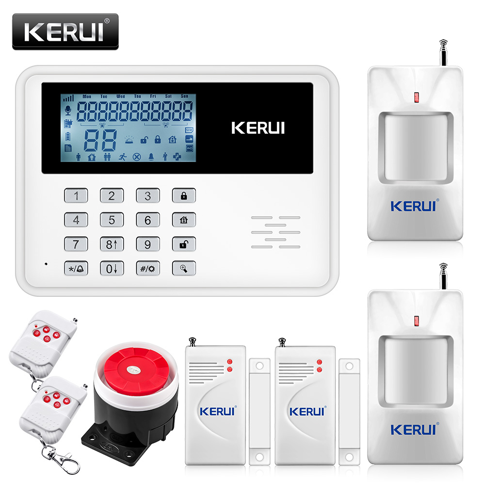 KERUI 5900G Voice Prompt GSM Alarm Systems LCD Display Wireless Door Sensor Home Security SIM SMS Burglar Alarm
