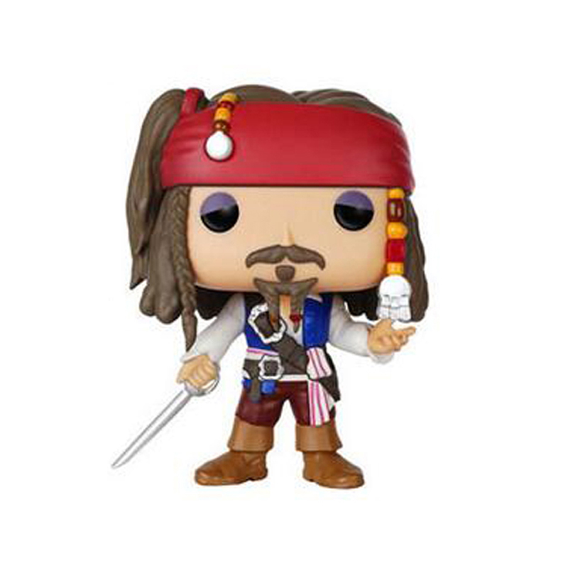 Elsadou #172 Pirates of the Caribbean Captain Jack Sparrow Vinyl Action & Toy Figures Children Toys Doll ...