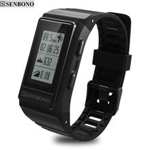 SENBONO новый GPS IP68 водонепроницаемый спортивный смарт браслет монитор кардиако трекер активности высота пульса фитнес Смарт браслет