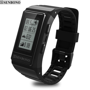 Image 1 - SENBONO جديد GPS IP68 مقاوم للماء الرياضة الذكية الفرقة رصد نشاط القلب المقتفي ارتفاع معدل ضربات القلب سوار ذكي للياقة