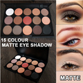 15 color Nude Matte Eye Shadow Makeup Palette Smoky Earth Color Silky Blends Smooth velvety Shades eyeshadow long lasting