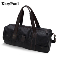 Men Vintage Retro Leather Travel Bags Hand Luggage Overnight Bag Fashionable Designers Large Duffle Bags Weekend