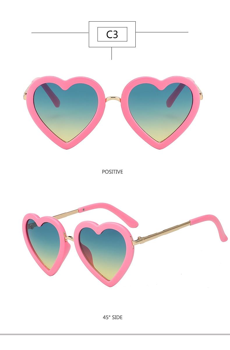 HTB1bLBymBTH8KJjy0Fiq6ARsXXaJ - Children Kids Sunglasses Fashion Heart Shaped Cute UV400 Designer Frame Eyewear Baby Girls Sunglasses Sun Glasses
