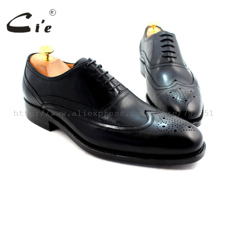 cie Round Toe Full Brogues Lace-Up Goodyear Welted 100% Genuine Calf Leather Outsole Breathable Mens Leather Shoes Black OX221 купить часы haas lt cie mfh211 zsa