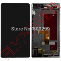 For Huawei Ascend P7 LCD Dispaly With Touch Screen Digitizer With Frame Assembly Black By Free