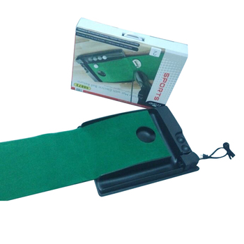 CRESTGOLF Golf Putting Mats with Automatic Electric Ball Return Golf Putting Practice Sets