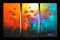 pure hand painted pictures oil painting decorative modern abstract canvas painting flower poppy cuadros decoracion home wall art