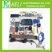 Бесплатная Доставка 100% новый мега 2560 r3 starter kit серводвигатель RFID Ультразвуковой Начиная реле ЖК-ДИСПЛЕЙ для arduino