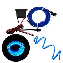 EL Wire 6 мм швейный неоновый автомобильный светильник s для танцевальной вечеринки декоративная лампа для автомобиля Гибкая EL Wire лампы канатная трубка Светодиодная лента с драйвером DC12V