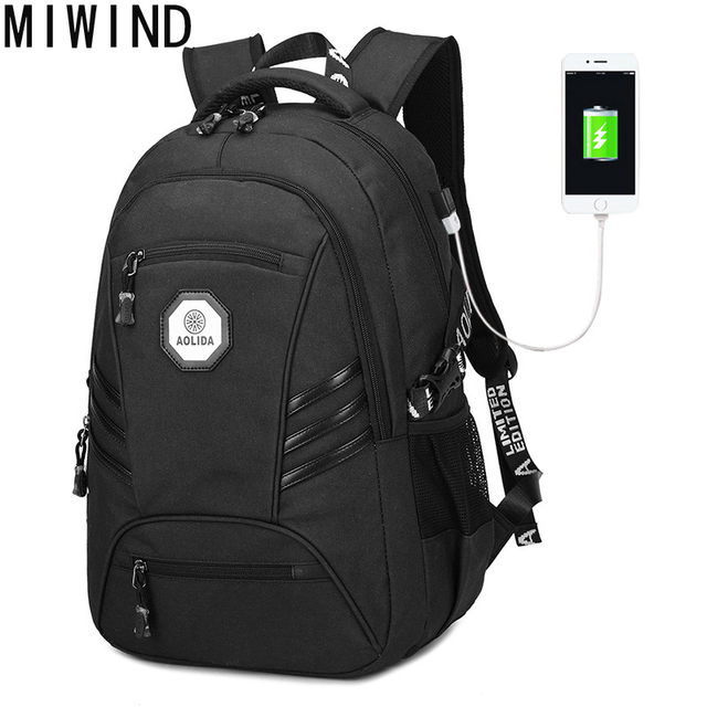 MIWIND Brand backpack male Waterproof men backpack Student School Backpack  Bag High Quality Designer Backpacks Male TAL097 63ef549b4df65
