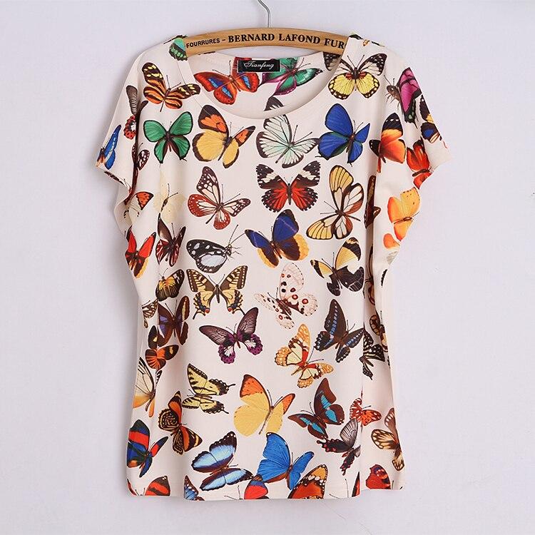 Online Get Cheap Women T Shirt Print Butterfly -Aliexpress.com ...