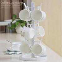 Tree Shape Cup Rack With 6 Brackets Drinkware Shelf Tea Cup Storage Holder Stand Home Kitchen