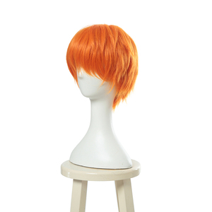 Image 2 - L email wig Brand New Fruits Basket Kyou Souma Cosplay Wigs 25cm Short Heat Resistant Synthetic Hair Perucas Cosplay Wig
