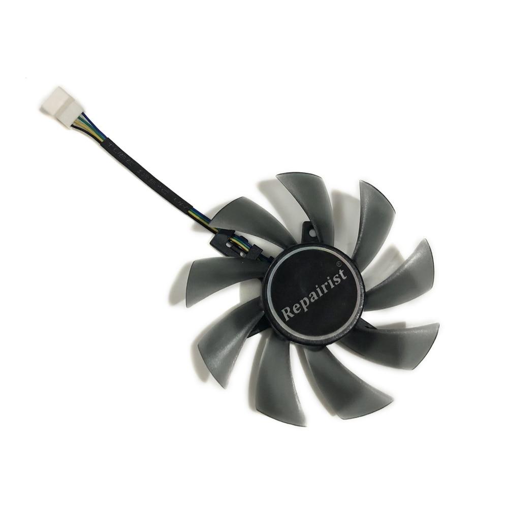 82-85 MM T129215SU GPU mejor alternativa ventilador para GIGABYTE RX580 480, 570 de 470 GTX1070 1060 de 1050 Gráficos de Vídeo tarjeta de tarifa