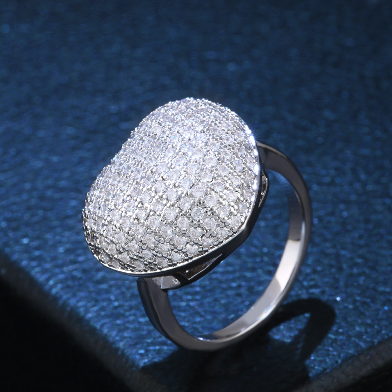 3def38825e5e Azul cristal ZIRCON 925 Plata de ley de lujo joyería anillo de bodas tamaño  6 7