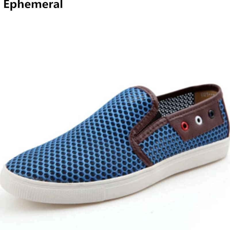 Men's European and American Cut-outs Plus size 49 Air Mesh Breathable Designer Driving Genuine Leather shoes Man Slip-On Loafers ec competition law procedure and european convention on human rights